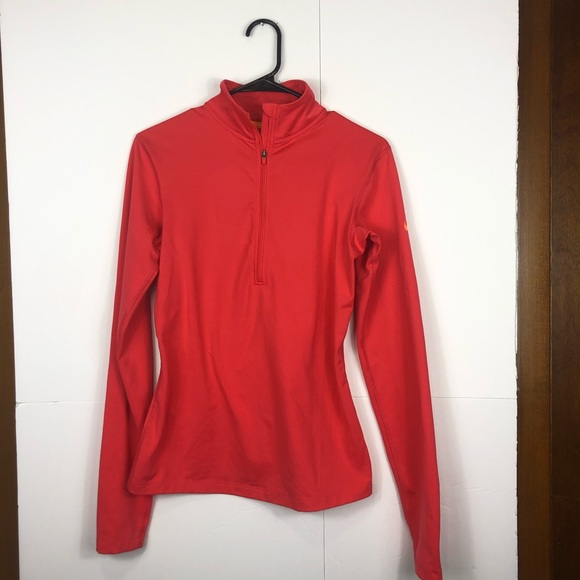 3/$30 Nike Dri-Fit Coral Long Sleeve 1/4 Zip Sz M